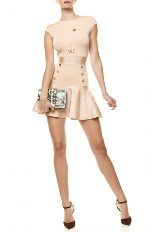 Clearance Really Beige dress Elisabetta Franchi Outlet Extremely Eastbay Online Wiki For Sale PeKMH86eeh